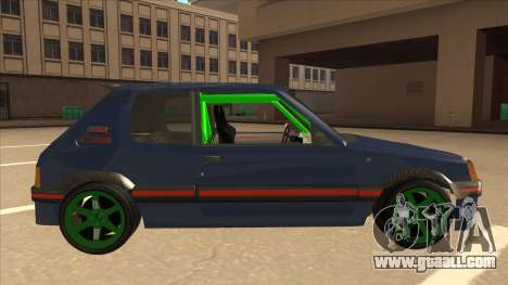 Peugeot 205 GTI for GTA San Andreas back left view