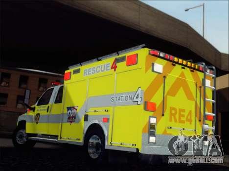 GMC C4500 Topkick BCFD Rescue 4 for GTA San Andreas back left view