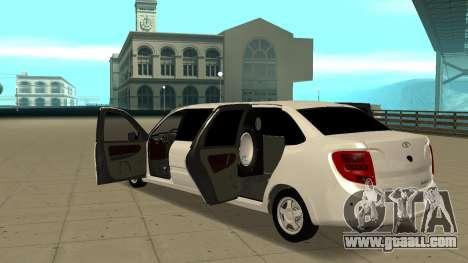 Lada Granta Limousine for GTA San Andreas inner view