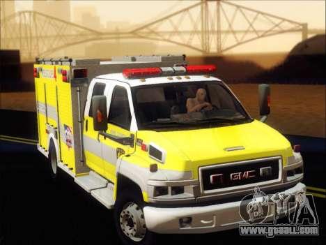 GMC C4500 Topkick BCFD Rescue 4 for GTA San Andreas left view