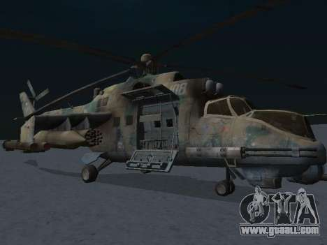 The MI-24 p for GTA San Andreas left view