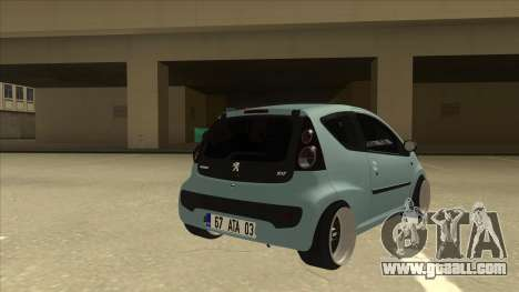 Peugeot 106 EuroLook for GTA San Andreas right view