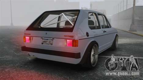 Volkswagen Golf MK1 GTI Update v1 for GTA 4 back left view