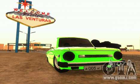 ZAZ 968 Cabriolet Tuning for GTA San Andreas left view