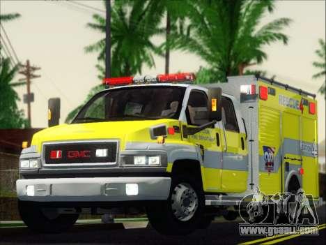 GMC C4500 Topkick BCFD Rescue 4 for GTA San Andreas