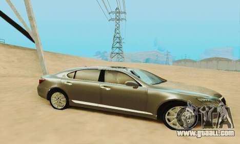 Lexus LS 600h L for GTA San Andreas bottom view