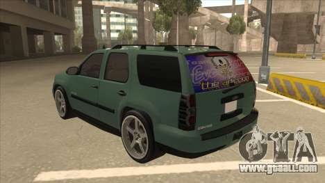 Chevrolet Tahoe Sound Car The Adiccion for GTA San Andreas back view