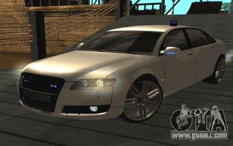 Audi A8L D3 for GTA San Andreas back left view