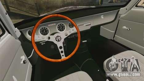 Alfa Romeo Giulia 1965 Sprint GTA Stradale for GTA 4 inner view