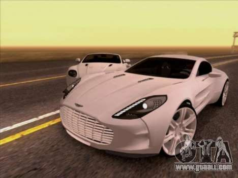 Aston Martin One-77 for GTA San Andreas left view