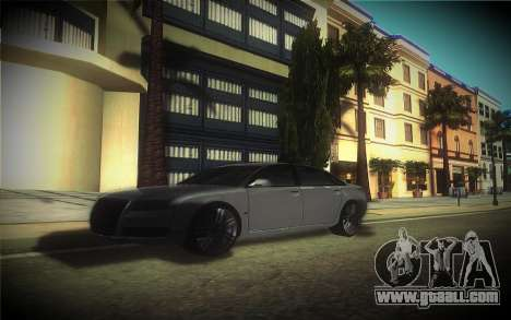 Audi A8L D3 for GTA San Andreas inner view