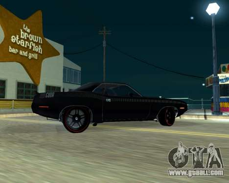 Plymouth Hemi Cuda 440 for GTA San Andreas right view
