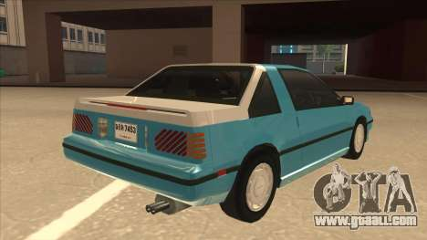 Nissan EXA L.A. Version for GTA San Andreas bottom view