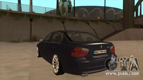 BMW 330 e90 for GTA San Andreas back view