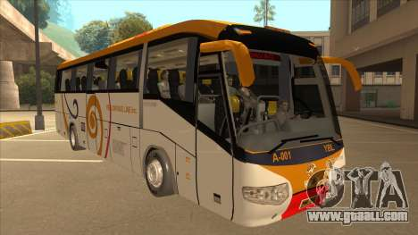 Higer KLQ6129QE - Yellow Bus Line A-001 for GTA San Andreas left view