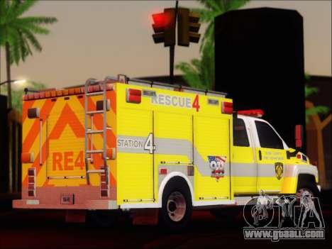 GMC C4500 Topkick BCFD Rescue 4 for GTA San Andreas right view