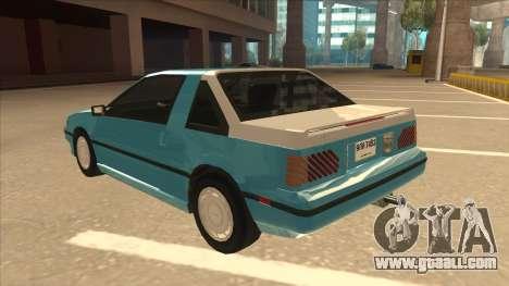 Nissan EXA L.A. Version for GTA San Andreas upper view