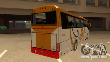 Higer KLQ6129QE - Yellow Bus Line A-001 for GTA San Andreas right view