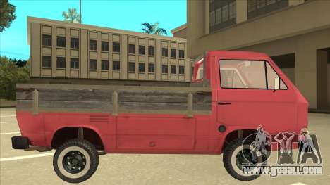 Volkswagen Transporter T3 Pritsche for GTA San Andreas back left view