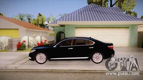 Lexus LS 600h L for GTA San Andreas left view
