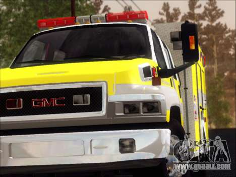 GMC C4500 Topkick BCFD Rescue 4 for GTA San Andreas interior