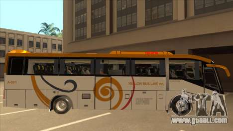 Higer KLQ6129QE - Yellow Bus Line A-001 for GTA San Andreas back left view