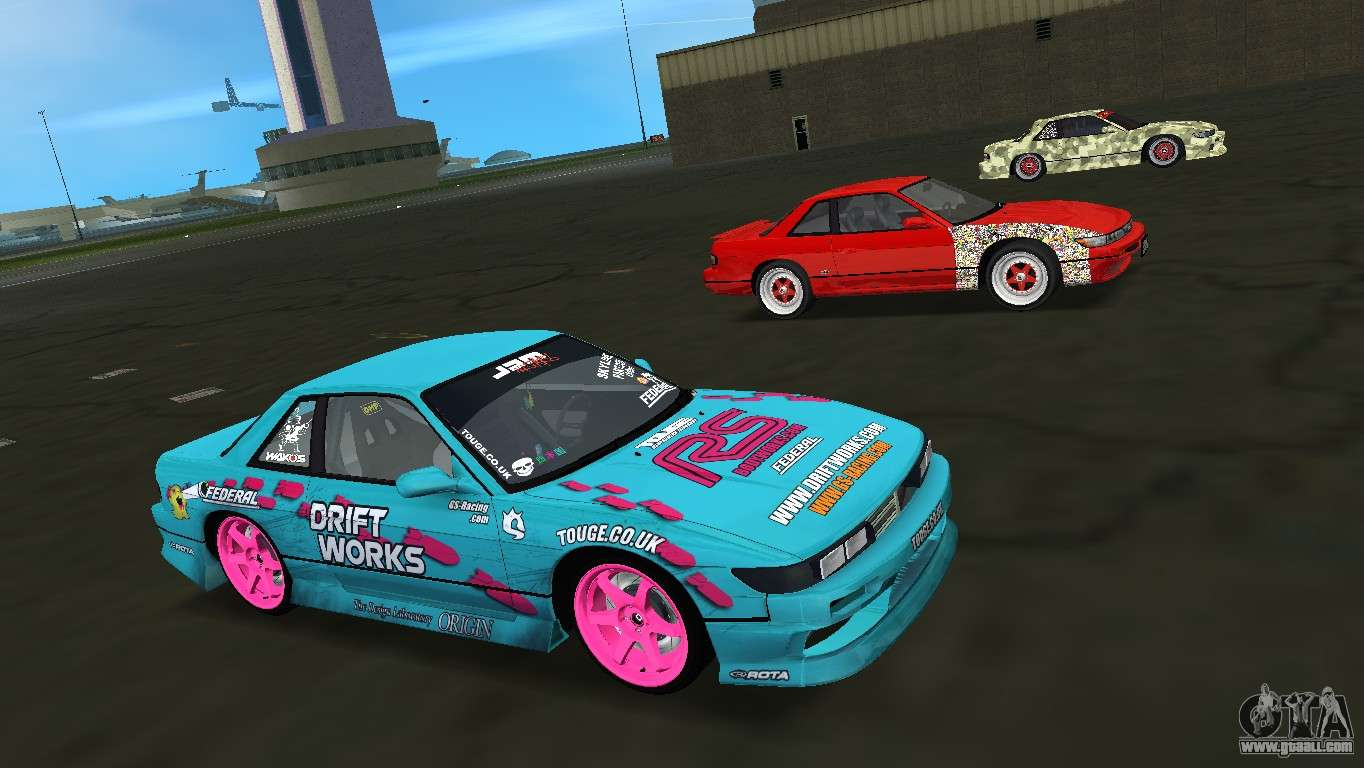 Nissan Silvia S13 Drift Works for GTA Vice City inner view