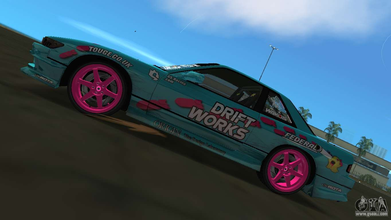 Nissan Silvia S13 Drift Works for GTA Vice City right view