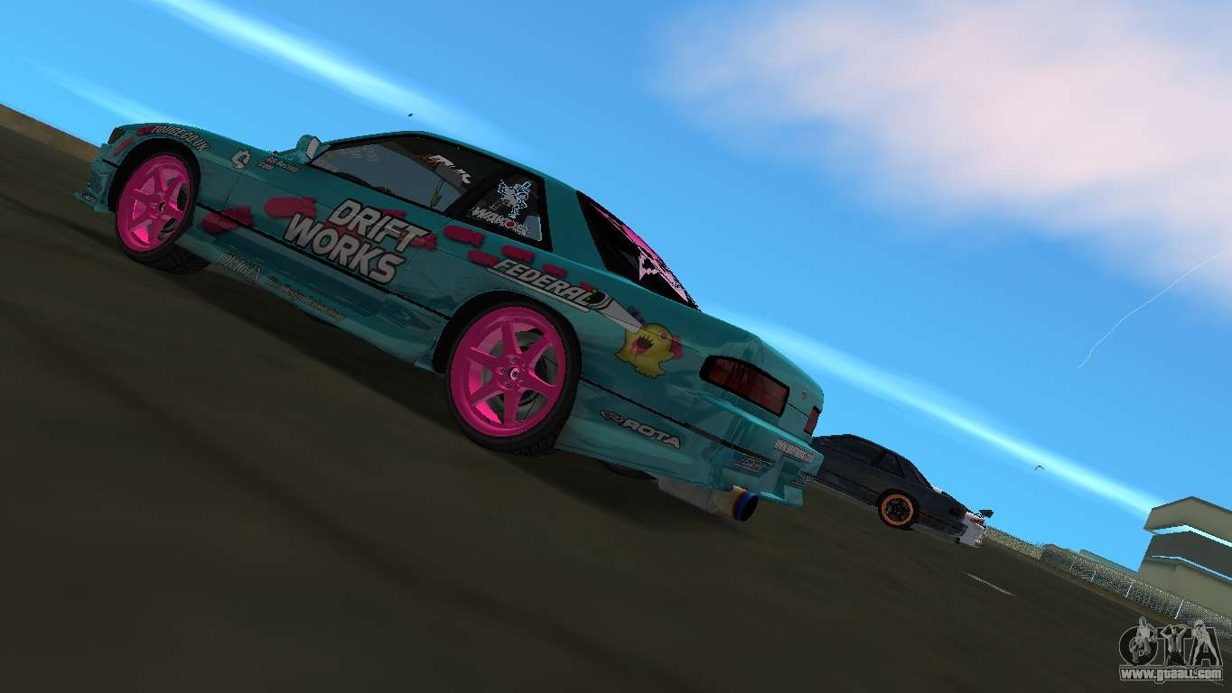 Nissan Silvia S13 Drift Works for GTA Vice City back left view