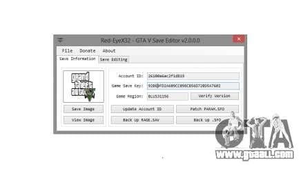GTA V Save Editor v2.0 by Red-EyeX32 for GTA 5