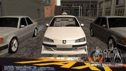 Peugeot 406 Taxi v2 for GTA San Andreas