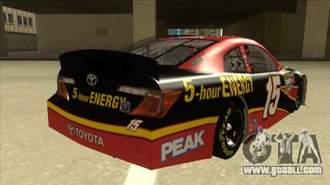 Toyota Camry NASCAR No. 15 5-hour Energy for GTA San Andreas right view