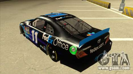 Toyota Camry NASCAR No. 11 FedEx Office for GTA San Andreas back view