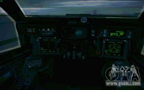 AH-64 Apache for GTA San Andreas upper view