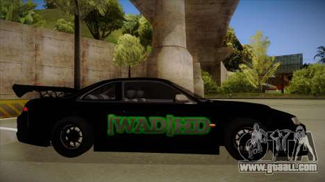 Nissan s14 200sx [WAD]HD for GTA San Andreas back left view