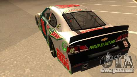 Chevrolet SS NASCAR No. 88 Diet Mountain Dew for GTA San Andreas back view