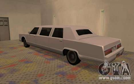 Limousine Driver Parallel Lines of for GTA San Andreas left view