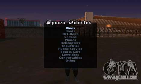 Cheat Menu for GTA San Andreas