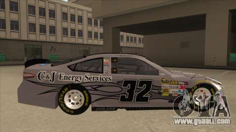 Ford Fusion NASCAR No. 32 C&J Energy services for GTA San Andreas back left view