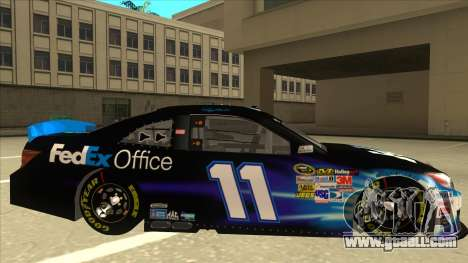 Toyota Camry NASCAR No. 11 FedEx Office for GTA San Andreas back left view