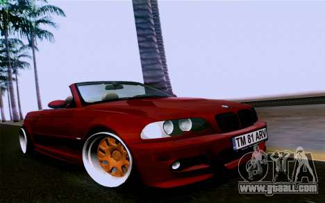 BMW M3 Cabrio for GTA San Andreas right view