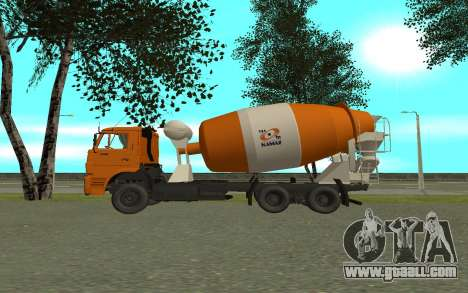 KAMAZ 6520 Cement for GTA San Andreas left view