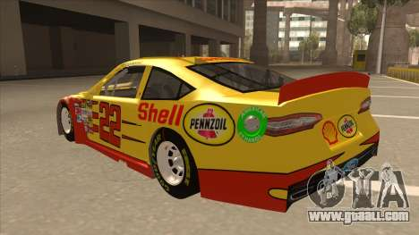 Ford Fusion NASCAR No. 22 Shell Pennzoil for GTA San Andreas back view