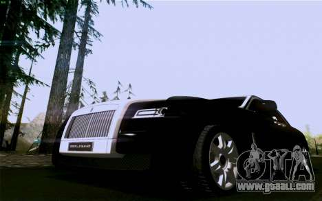 Rolls-Royce Ghost for GTA San Andreas back left view
