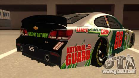 Chevrolet SS NASCAR No. 88 Diet Mountain Dew for GTA San Andreas right view