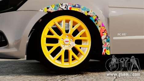 Volkswagen Gol G6 2013 Turbo Socado for GTA 4 back view