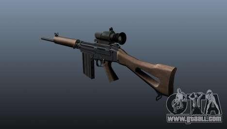 FN FAL sniper rifle for GTA 4 second screenshot