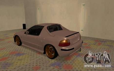 Honda CRX DelSol TMC for GTA San Andreas right view