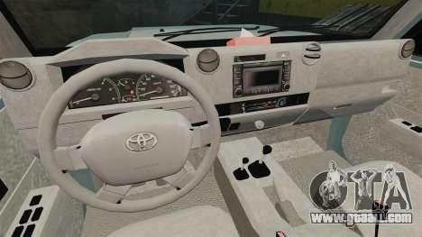 Toyota Land Cruiser 76 Wagon GXL 2010 for GTA 4 back view