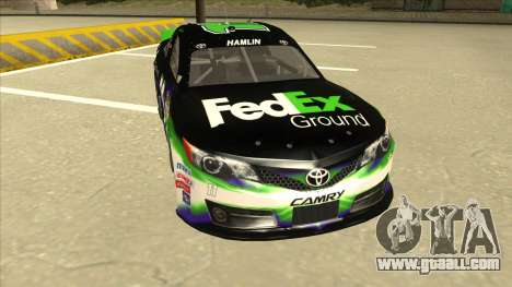 Toyota Camry NASCAR No. 11 FedEx Ground for GTA San Andreas left view